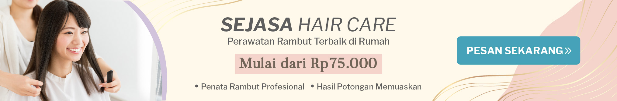 Homepage banner hair care